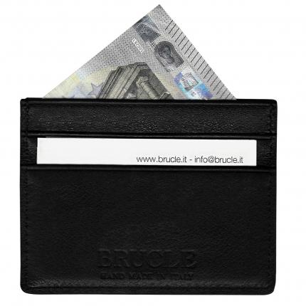 Custodia nera Porta carte di credito