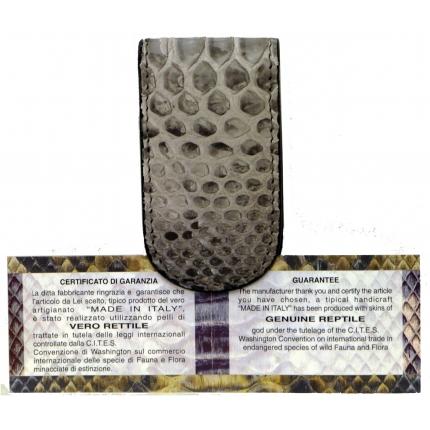 Fermasoldi Magnetico Grigio in Vera pelle di Pitone