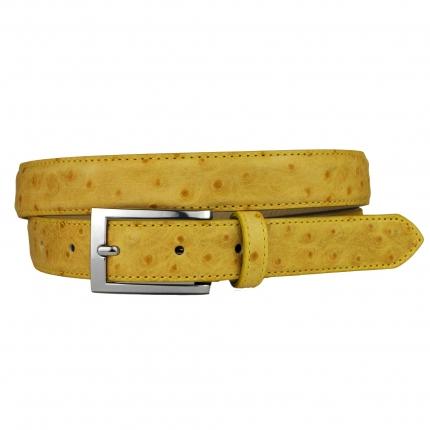 Cintura donna gialla stampa struzzo