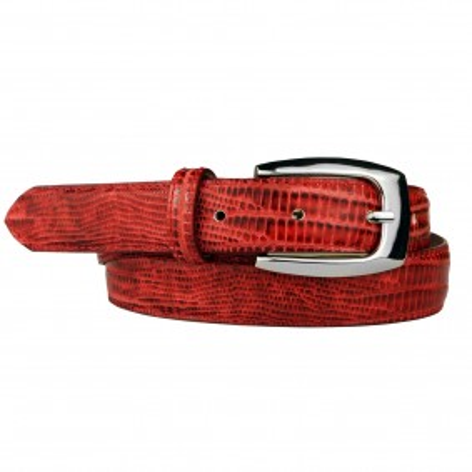 Cintura donna stampa Lucertola rossa