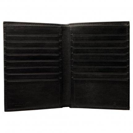 Portafoglio portadocumenti verticale di pelle nero