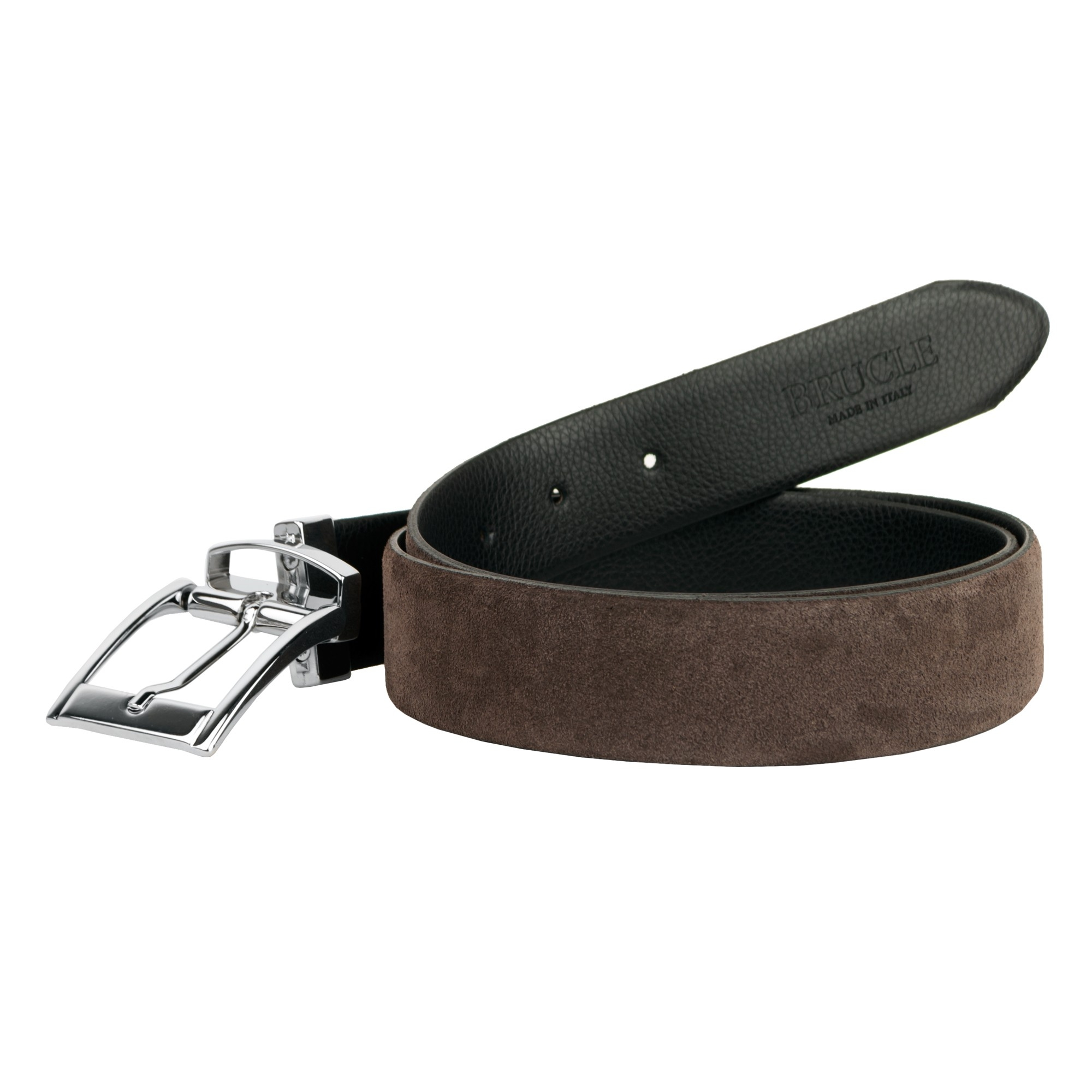 reversible belt black and brown brucle