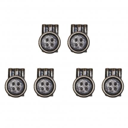 Bottoni effetto vintage con clip per bretelle