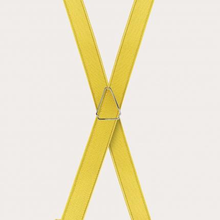 Bretelle sottili gialle in raso