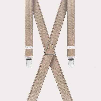 Bretelles extra fines or avec 4 clips
