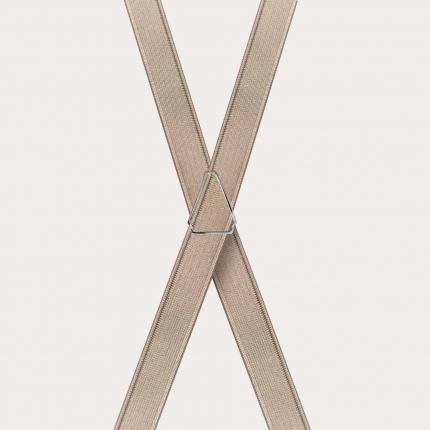 Schmale hosenträger golden x form