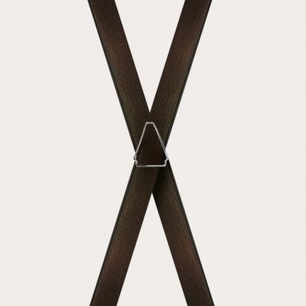 Bretelle sottili in raso marroni