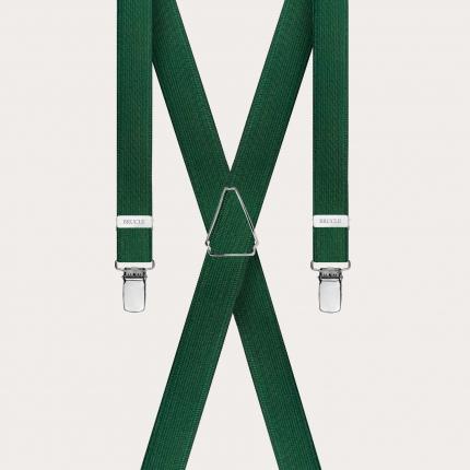 Bretelles vert avec 4 clips