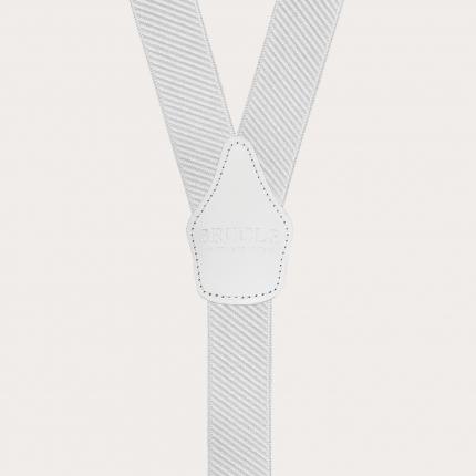 Bretelles larges blanc