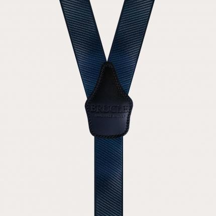 Y-shape elastic suspenders, dark blue