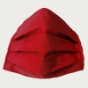 Silk protective facemask, dotted red