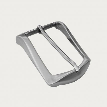 Boucle sans nickel, satin, Pour ceinture de 35 mm de hauteur