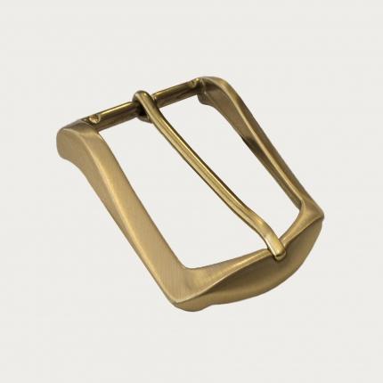 Fibbia nickel free per cinture da 40 mm, satinata oro