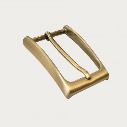 Fibbia nickel free per cinture da 35 mm, satinata oro