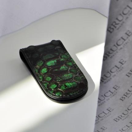 Python Money clip Green