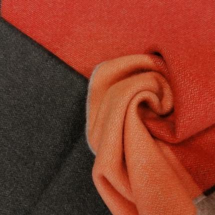 Long scarf in multicolor cashmere, palette du Solstice