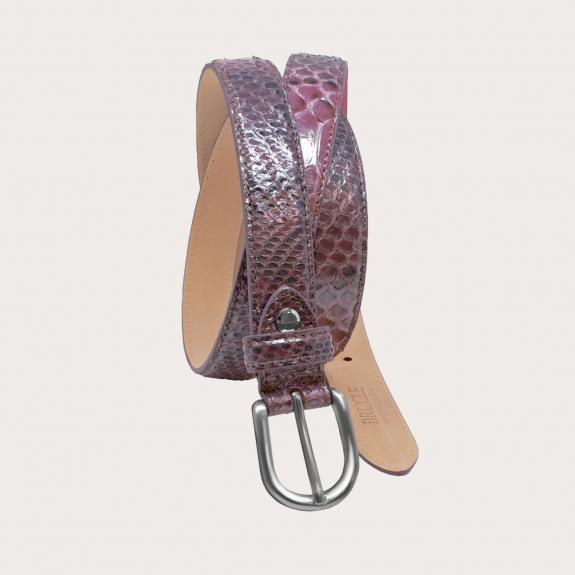 Ceinture en cuir de python H25, rouge
