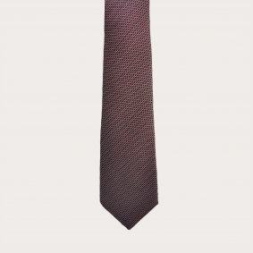 Jacquard silk tie, red dotted