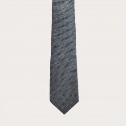 BRUCLE Cravatta in seta jacquard, puntaspillo smoky blue