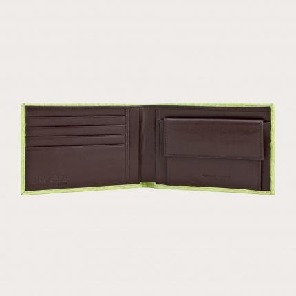 Genuine python bifold wallet, dark brown