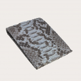 genuine python leather wallet dusty blue