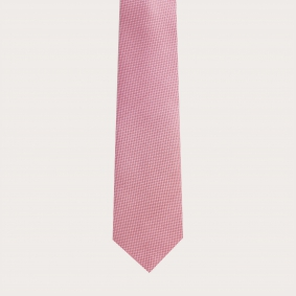 Cravate en soie jacquard, rose