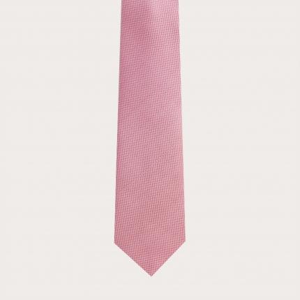 Necktie in jacquard silk, pink