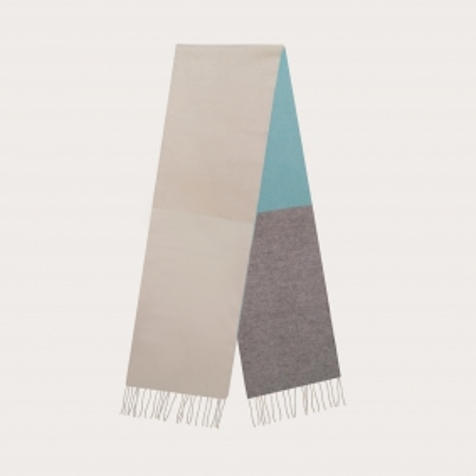 Long scarf in multicolor cashmere, palette du Mer