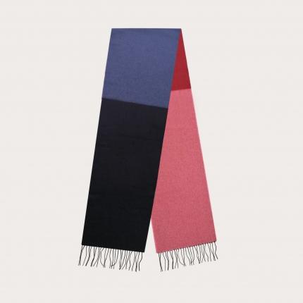 Long scarf in multicolor cashmere, palette du Sunset