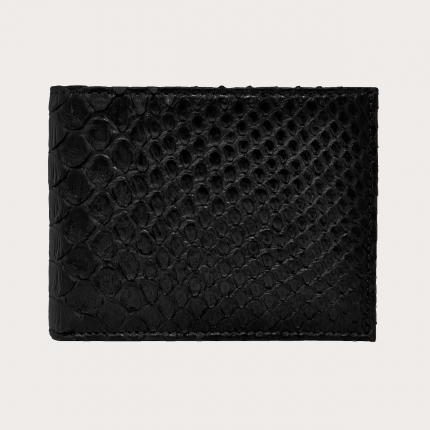 Herren python Brieftasche mit Münzfach, schwarz