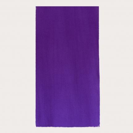 Warm narrow cashmere scarf, purple