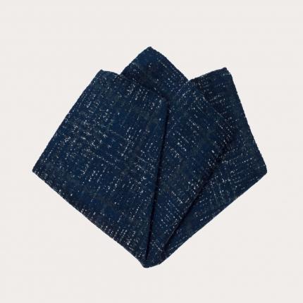 pocket square tartan green blue