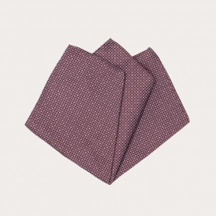 Pocket square bordeaux