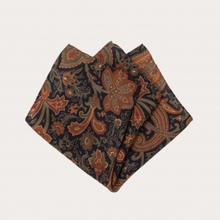 pocket square wool paisley