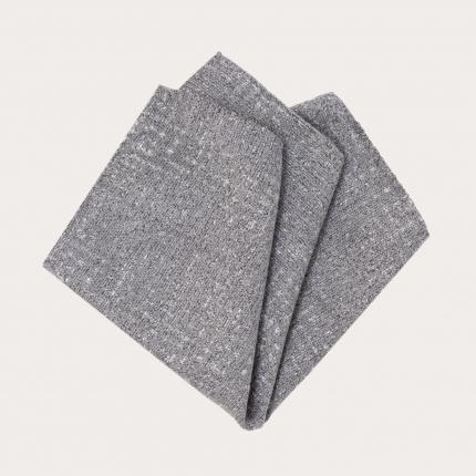 Pocket square tartan grey