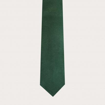 Cravatta sfoderata in lana e canapa, verde