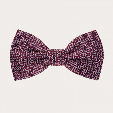 Silk Pre-tied Bow tie bordeaux