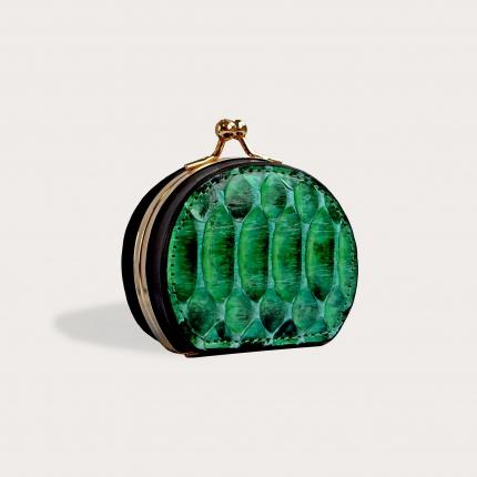Python Coin Purse for women green