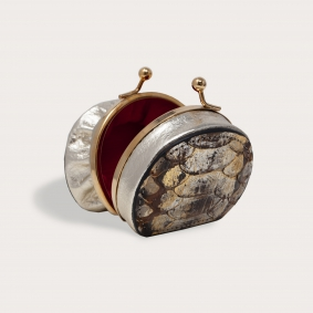Python Coin Purse for women brown gold