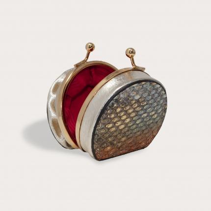 Python Coin Purse for women multicolored metallic