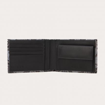 Herren python Brieftasche mit Münzfach, dusty blue