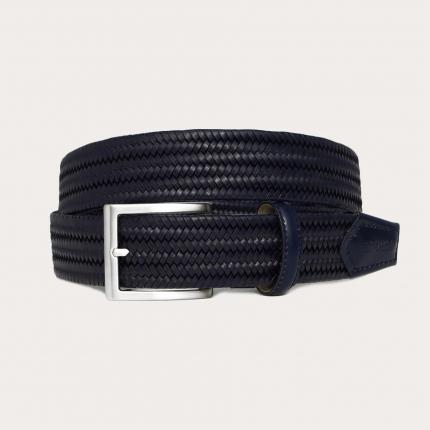 Cintura intrecciata elastica in pelle