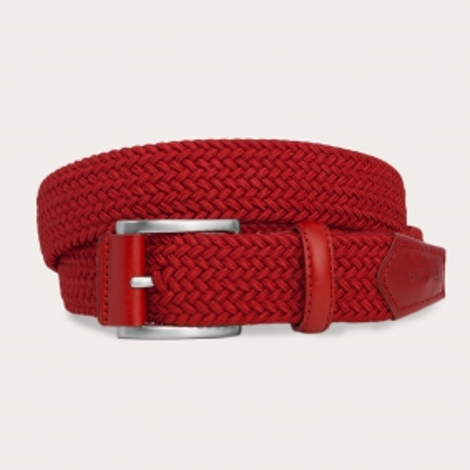 Cintura intrecciata elastica rossa