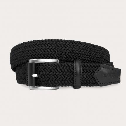 Cintura intrecciata elastica nera