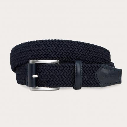 Cintura intrecciata elastica blu
