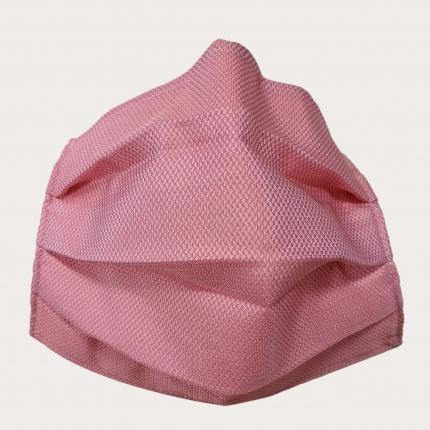 StyleMask Mascherina facciale filtrante in seta, rosa