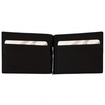 Portafogli con fermasoldi nero