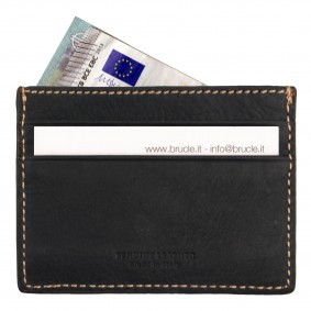 Brucle blue credit card holder patchwork
