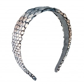 Headband python leather