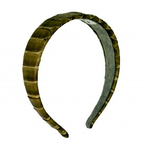 Headband python leather green musk